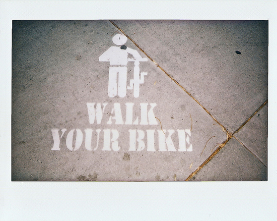 walk your bike. Instax 210